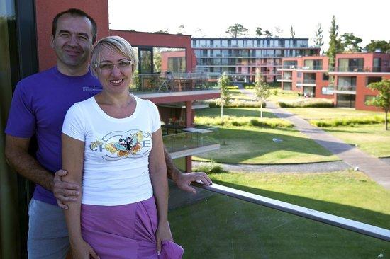 BL YachtClub & Apartments: Вид на территорию отеля
