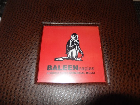 Baleen Naples: Menu