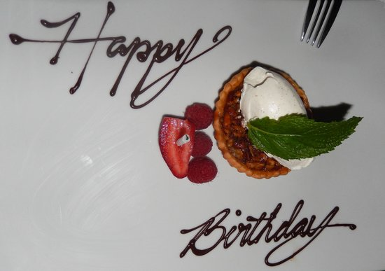 Baleen Naples: Nice birthday touch