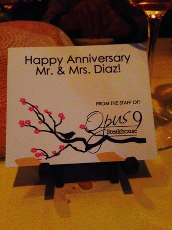 Opus 9 Steakhouse : note