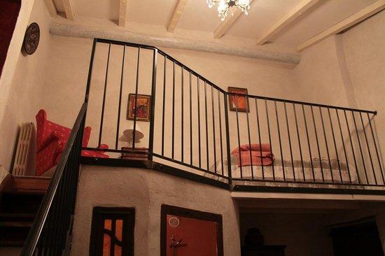 LeMas des Carnassoles: Espace à l'étage pour une 3ème personne