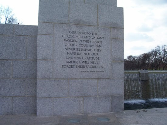 National World War II Memorial: President Truman Quote