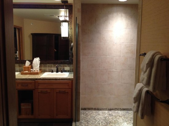 Lodges at Timber Ridge by Welk Resorts : Bathroom with walk in shower.
