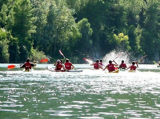 Flix, Espagne : Descenso del Ebro en kayaks - piraguas