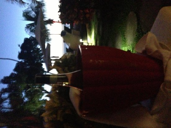 Tamarind by Elegant Hotels: Champagne sunset on our patio !!
