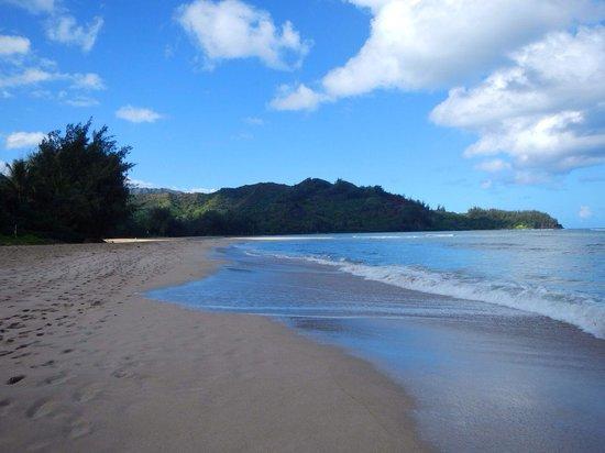 Poipu Beach Park: Hanalei bay