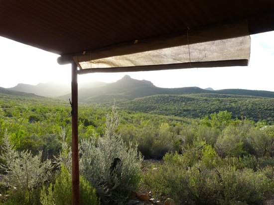 Zwartberg View Mountain Lodge: Sunset on Swartberg range