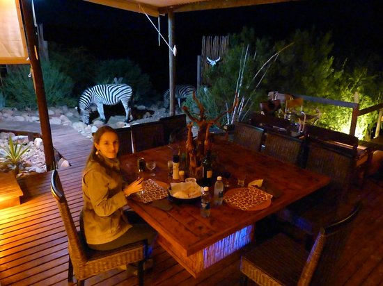 Zwartberg View Mountain Lodge: Diner in company!