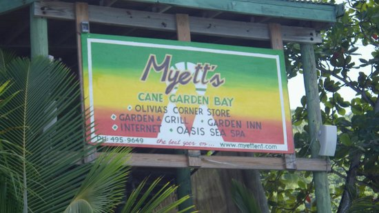 Myett's Garden Inn: Just the sign