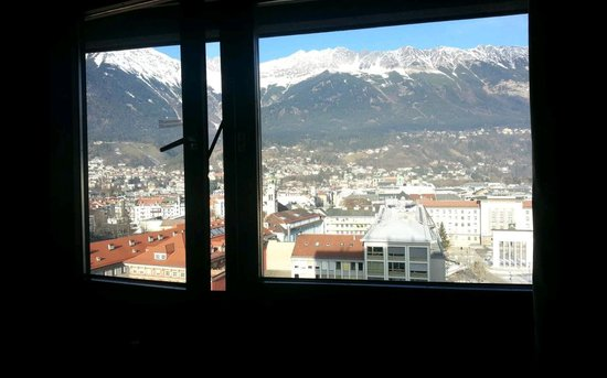 Hilton Innsbruck: view from hotel room