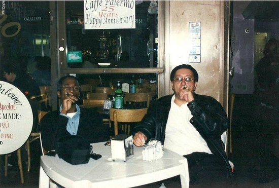 Caffe Palermo: Enjoying some coffee and a nice cigar w/ a pal