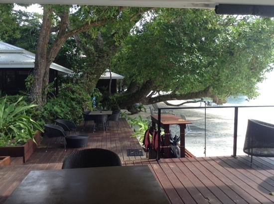 Barrier Beach Resort: this was taken from the dining area looking at the accomodation.