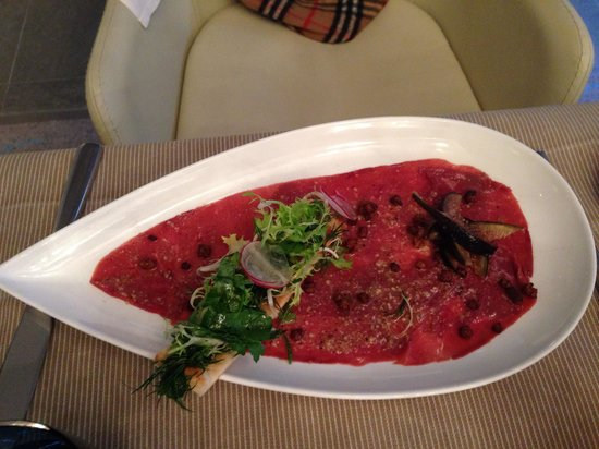 Restaurant De Sers: Enten-Carpaccio