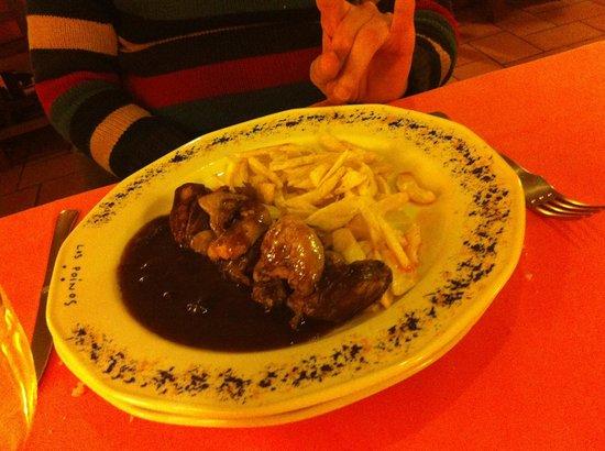 Cueva Restaurante Los Poinos: uno de los platos