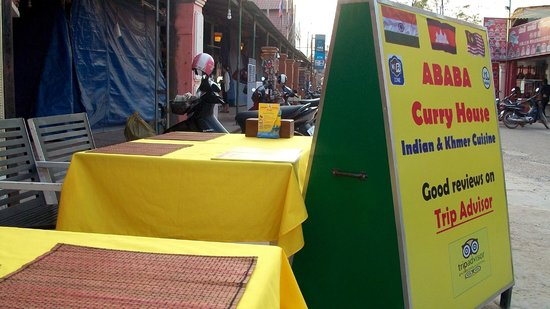 ABABA Curry House: outdoor seating