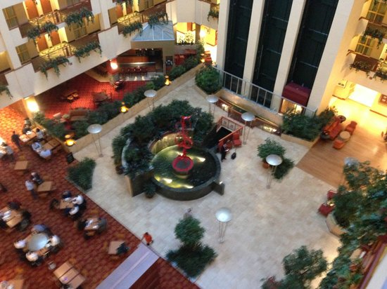Embassy Suites by Hilton Northwest Arkansas: View of atrium area from 7th floor