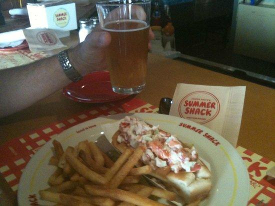 Summer Shack : Lobster roll and Sam Adams