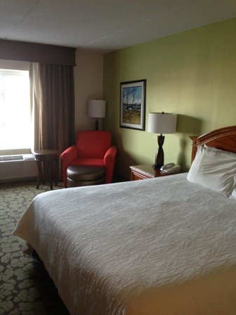 Hilton Garden Inn Islip/MacArthur Airport: View of bed / sitting area from door