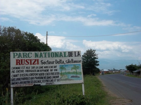 Rusizi National Park : entrance from highway