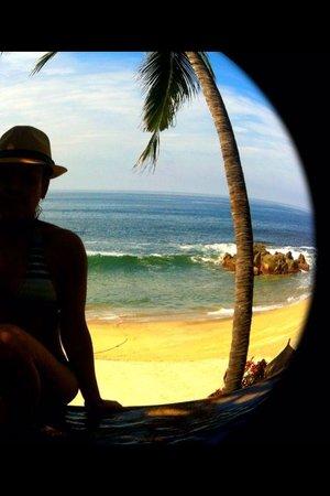 Playa Escondida: Desde el jacuzzi
