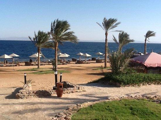 Tropitel Dahab Oasis: WINDY DAY ON BEACH