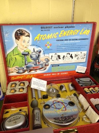 National Toy Train Museum: A must for every boy - radioactive chemistry set!