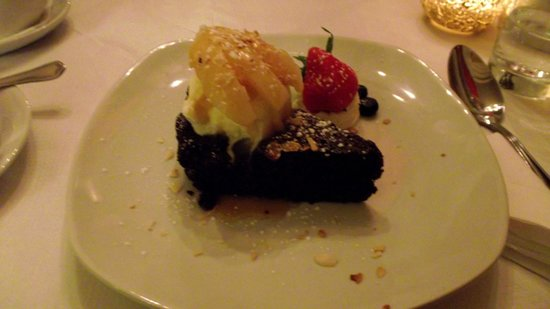 The Dining Room: Chocolate brownie