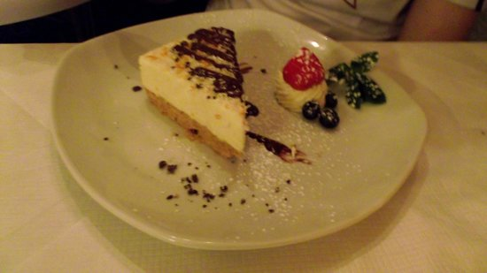 The Dining Room: Orange and white chocolate cheese cake