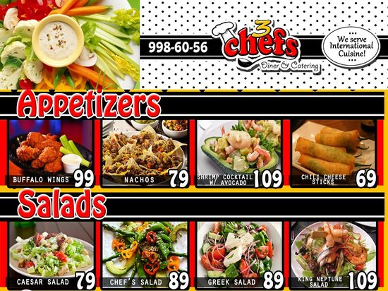 Sample Menu  Appetizers  Picture Of Chefs Diner And Catering