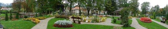 Bohinj ECO Hotel: Jardim ao lado do hotel
