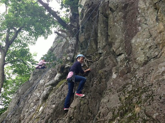 Mobile Adventure - Day Adventures: Jayne, starting off on the first ascent