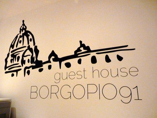 Borgo Pio 91: hotel logo (mural)
