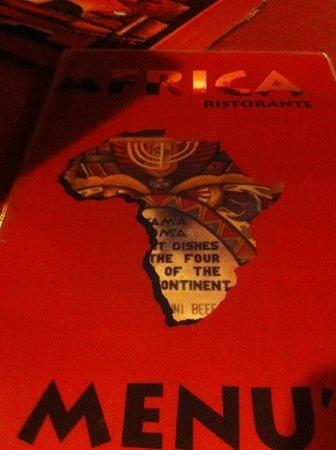 Africa - Ristorante Tipico Etiopico-Eritreo: Menu