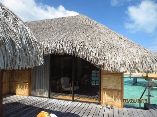 Le Taha'a Island Resort & Spa: On the bungalow deck