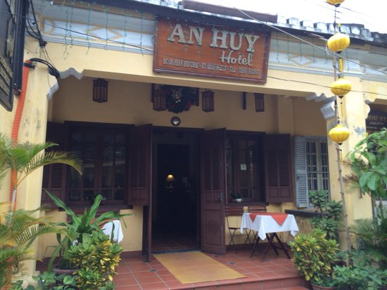 An Huy Hotel: At the front. Use those table in the morning to have breakfast. Great vibe