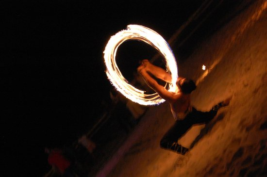 Paradisus Punta Cana Resort : Fire Show on the beach