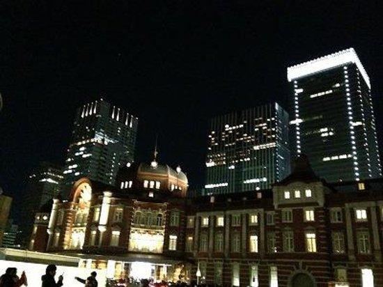 Tokyo Central Railway Station: 東京駅ライトアップ