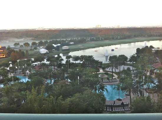 JW Marriott Orlando, Grande Lakes: The Lazy River Pool, from our room.