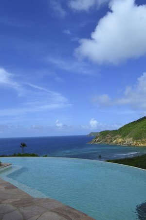 Guana Island : View fromthe Big house