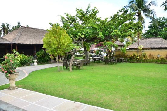 Aneka Lovina Beach Hotel: open area near the R&B outlet