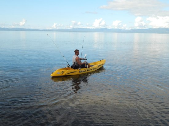 Saladero Eco Lodge: kayak fishing