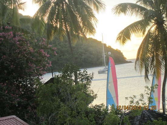 St. Lucian by Rex Resorts: Sunset from our balcony