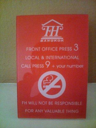 First House Bangkok: Help