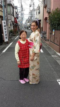 Family Inn Saiko : Fun and interesting experience getting dressed up in a kimono!