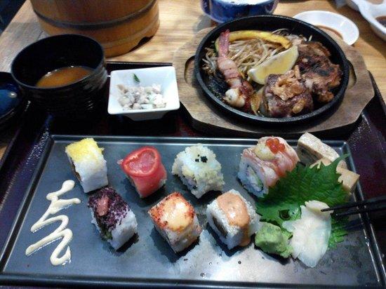 En Japanese restaurant: lunch set