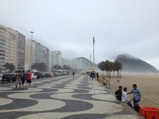 Acapulco Copacabana: Half block away from Copacabana/Leme