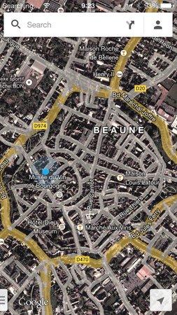 Abbaye de Maizières : map