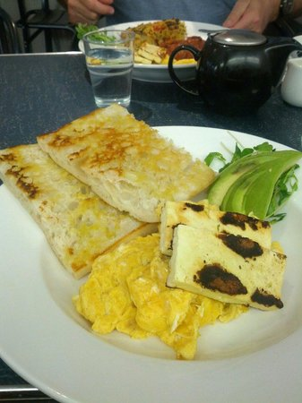 North St Cafe & Bar: Scrambled eggs with avocado and haloumi