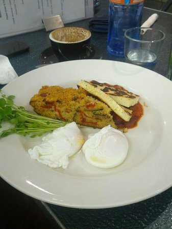 North St Cafe & Bar: Vegetarian breakfast with eggs, home made baked beans and quinoa slice.