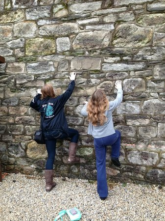 Eastern State Penitentiary: The girls attempt to scale the 30-foot walls of the prison yard
